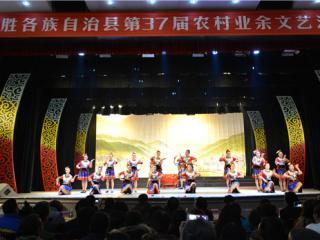 龙胜:农村业余文艺汇演闹新春