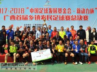 广西首届乡镇农民足球赛总决赛闭幕 靖西蓝鸟夺冠