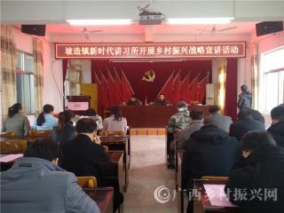 平果县:坡造镇新时代讲习所传导乡村振兴战略正能量