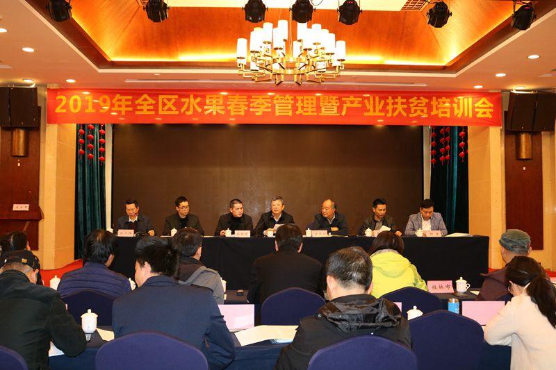 全区水果春季管理暨产业扶贫培训会在三江县召开