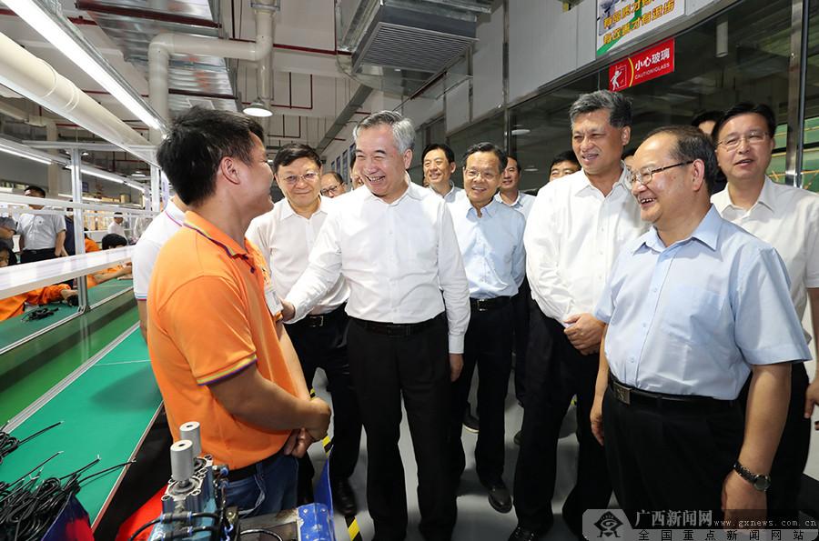 广东省党政代表团来桂考察并出席粤桂扶贫协作第四次联席会议