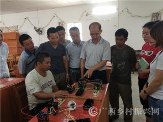 大化县:50名贫困群众获免费电工技能培训