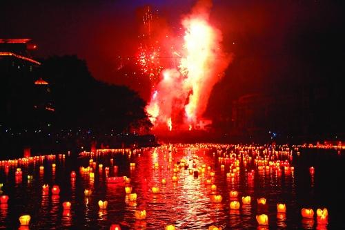 资源县第二十五届民族传统河灯歌节暨第八届丹霞文化旅游节侧记