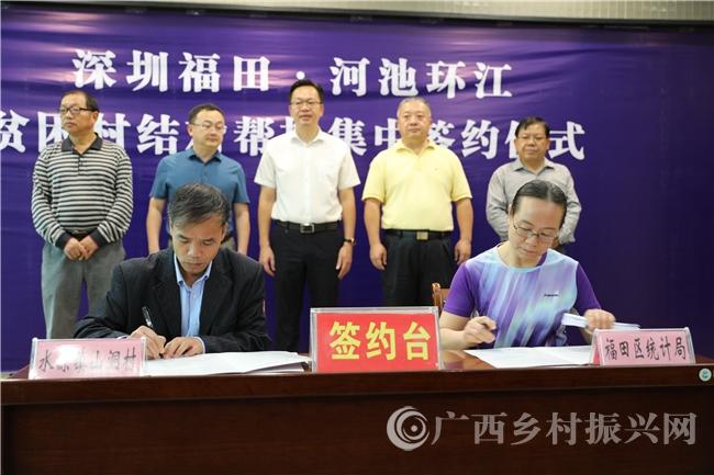 环江县:39个贫困村与深圳福田区集中签约