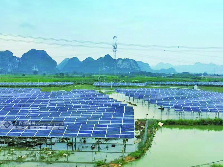 上林县:通过发展光伏扶贫产业壮大65个贫困村集体经济