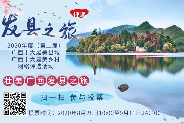 2020广西十大最美县域、最美乡村网络评选正式启动
